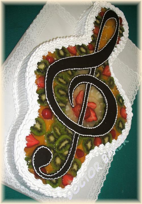 """Торт на заказ  """"Скрипичный ключ """" не только для музыкантов, но и для всех..."""