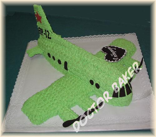 Торт самолет кремовый