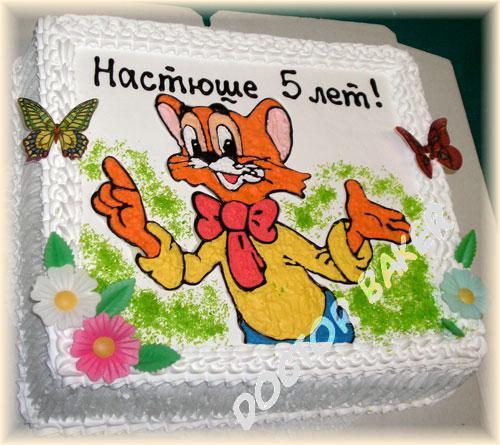 детцкие рисунки тортов фото