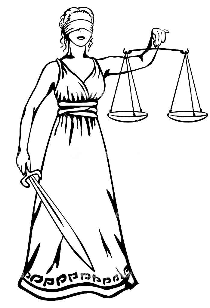 Рисунок фемида правосудия